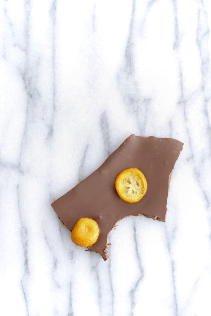 kumquat dark chocolate bark | kumquat