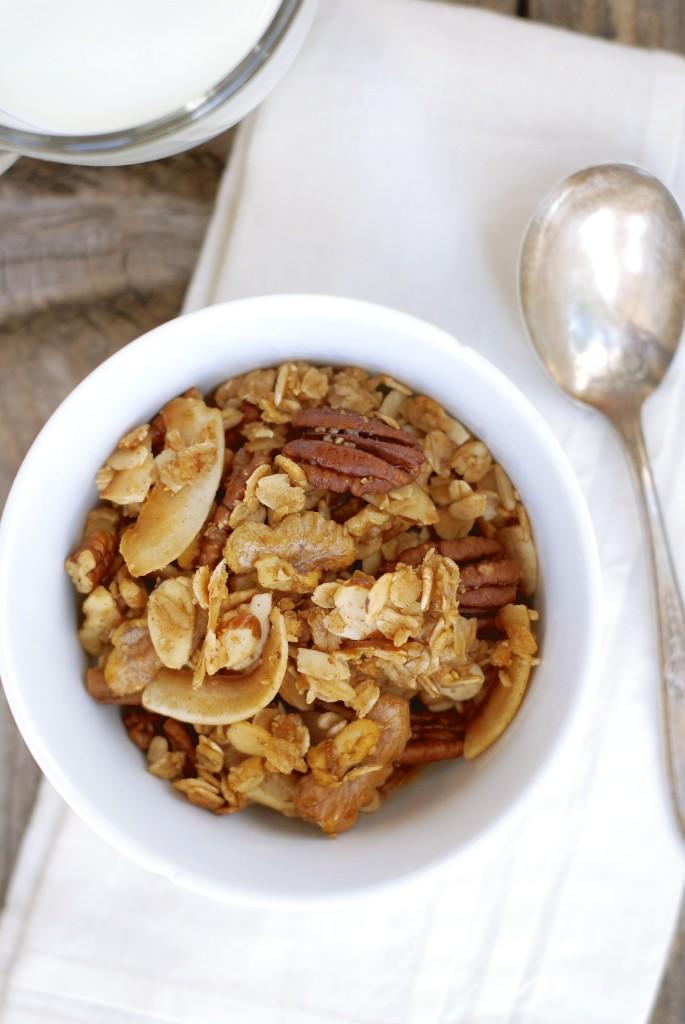 gluten-free nutty coconut granola   kumquat