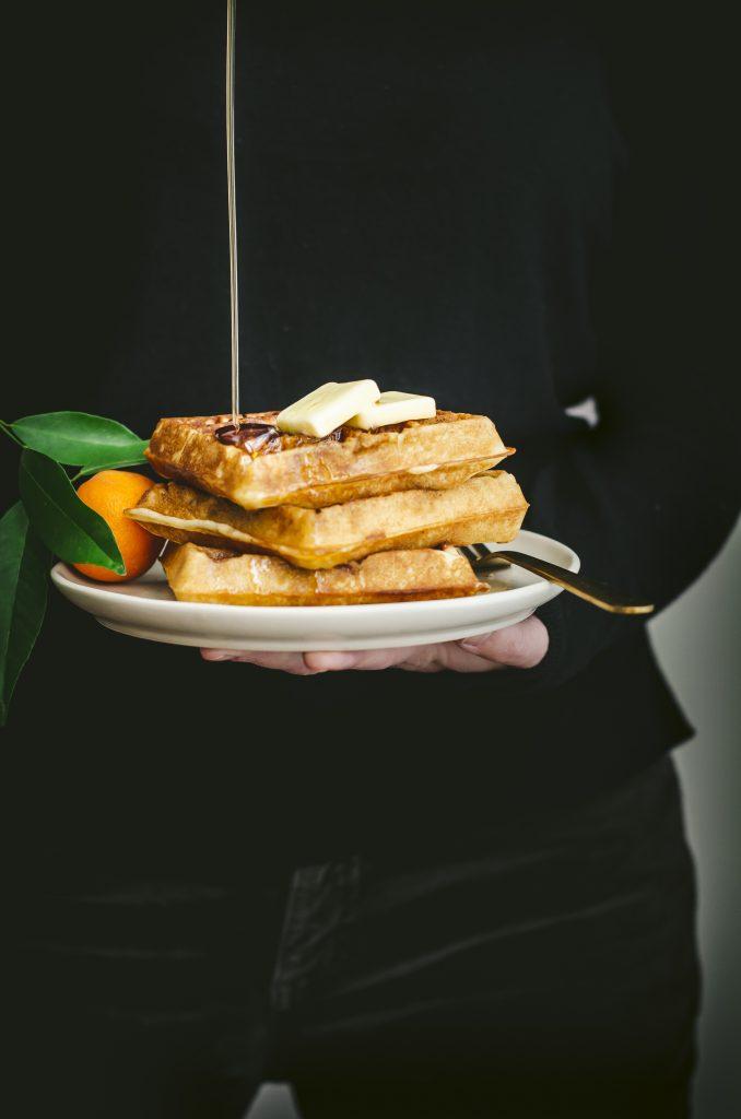 Orange Juice Belgian Waffles | kumquatblog.com @kumquatblog recipe