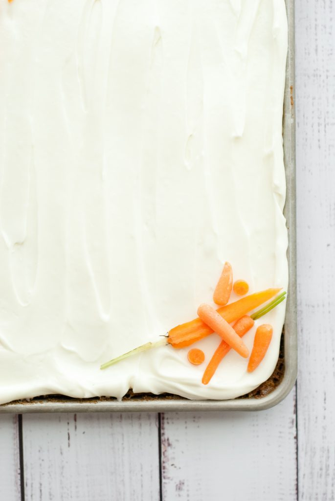 Simple Grain-Free Carrot Cake with Cream Cheese Frosting | kumquatblog.com @kumquatblog recipe